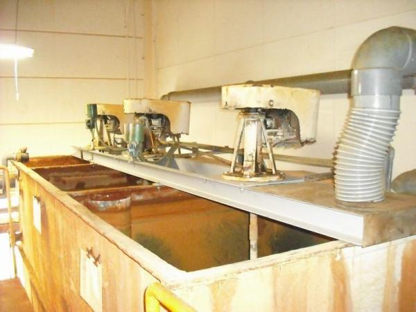 脱脂撹拌槽のブラッケト取付工事
